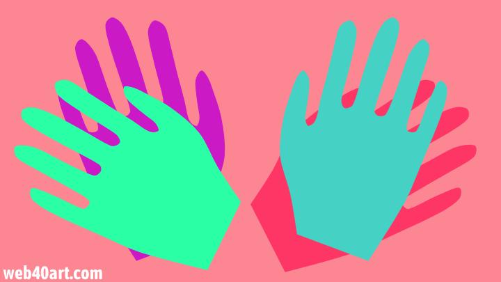 3D-Modell bewegende Hand