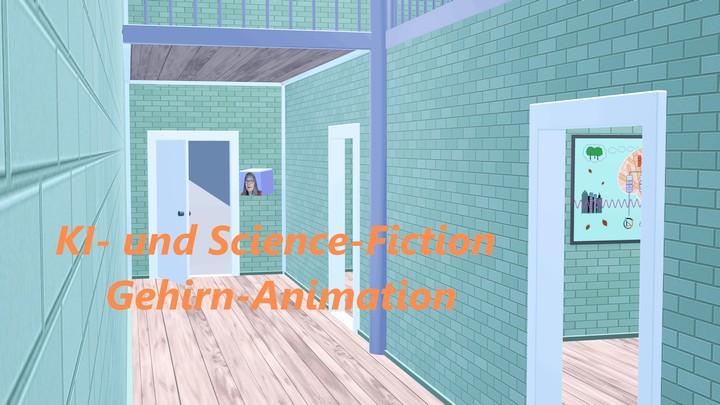 KI- und Science-Fiction Gehirn-Animation